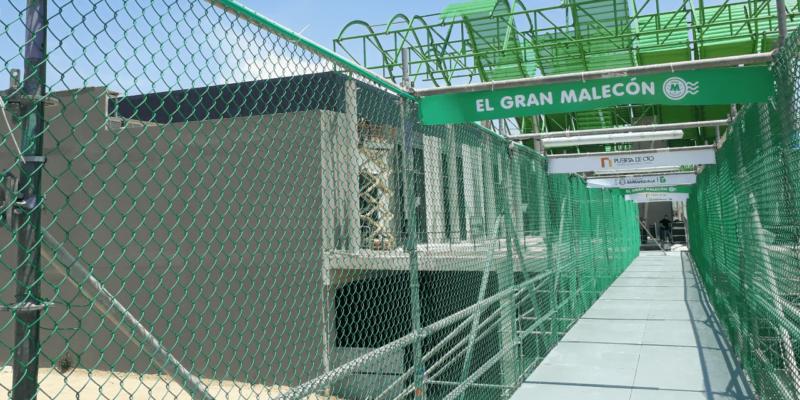 Puente provisional malla eslabonada