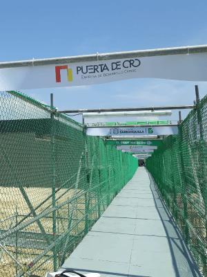 Puerta de oro puente provisional